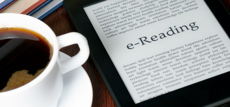 E-Book next to Coffee